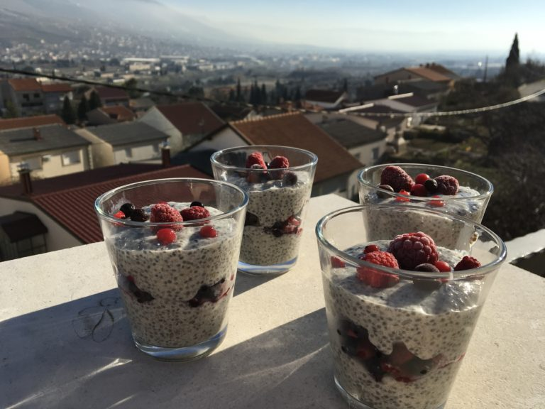 Chia pudding went to the forest…