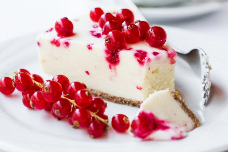 Quick Keto red currant cheesecake
