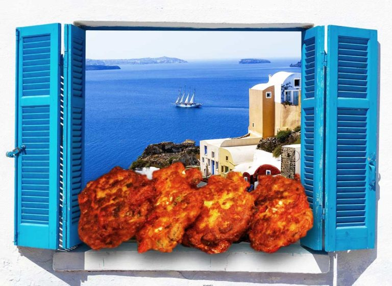 Keto tomato patty from Santorini – Tomatokeftedes