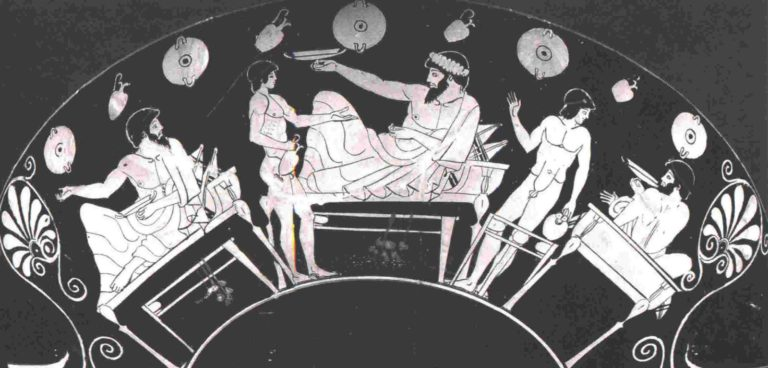 Ancient Greek feast, A low-carb event