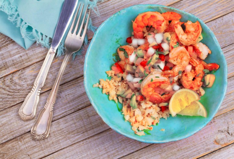 Shrimp and Avocado salad with Keto in mind