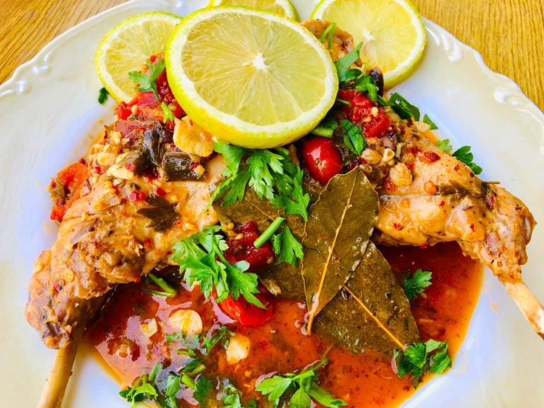 Keto Rabbit stew – A Greek Twist to famous Hasenpfeffer