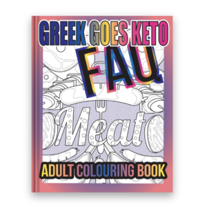 Greek Goes Keto adult colouring book