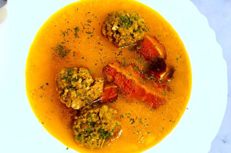 Keto soup with smokey flavour and winter aromas
