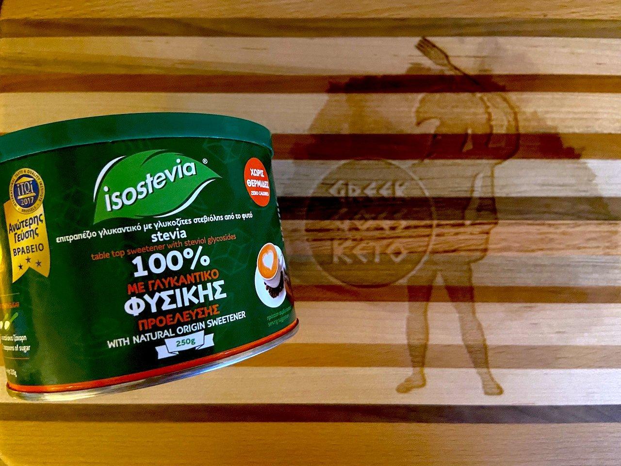 isostevia greek goes keto