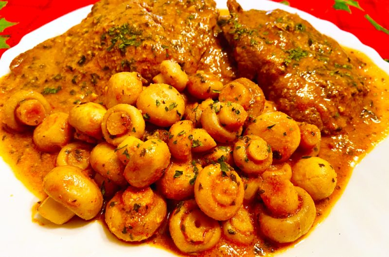 Veal cutlets with Champignon mushrooms