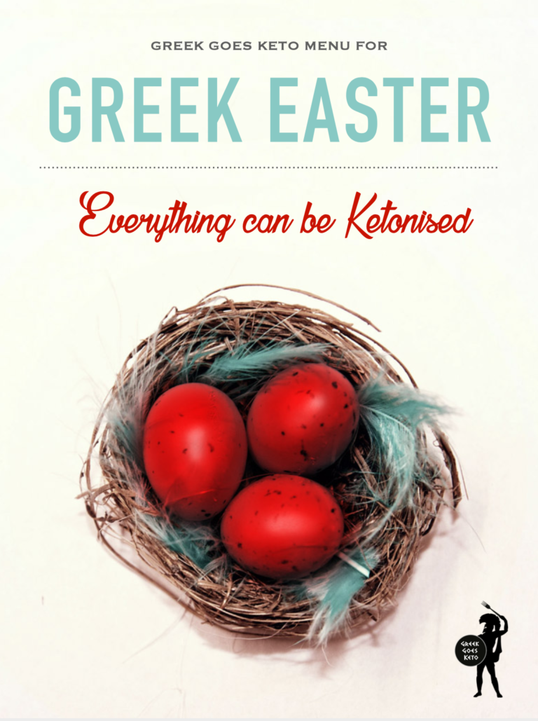 Greek Easter Keto Menu mini eBook by Greek Goes Keto