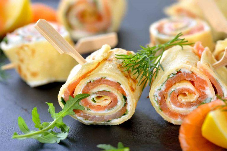 Keto crepe rolls À la Sushi