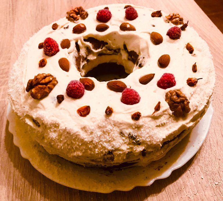 Keto Fruitcake in glorious Glamoutsa shape