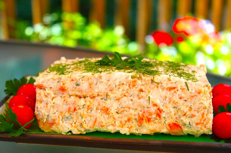 Old fashioned salmon mousse